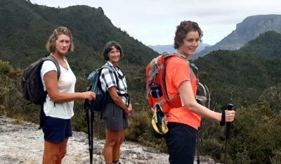 Women on a hiking adventure